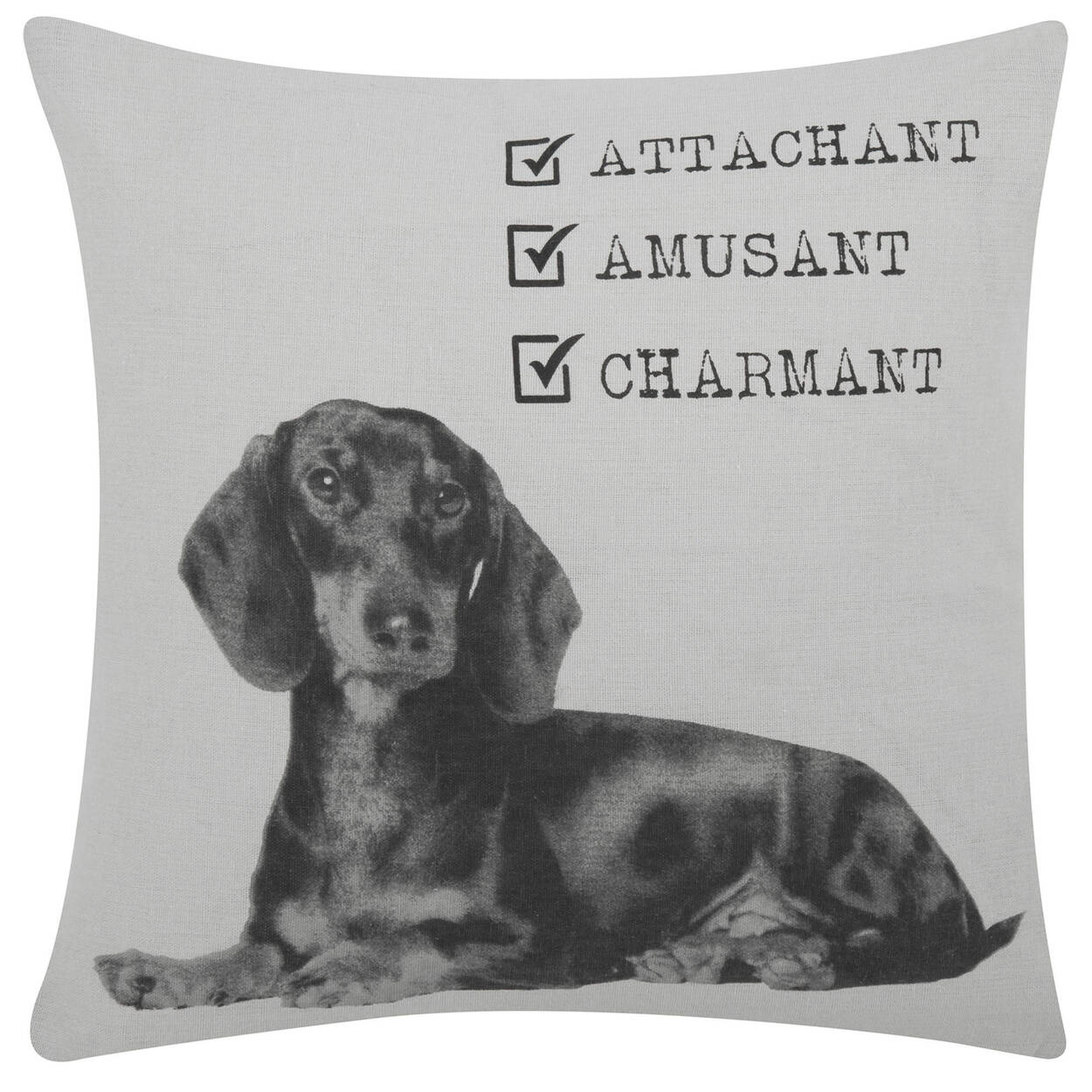 """Ferdinand the Dog Decorative Pillow Cover 18"""" X 18"""""""