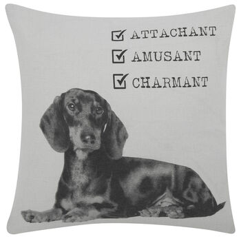"Ferdinand the Dog Decorative Pillow Cover 18"" X 18"""