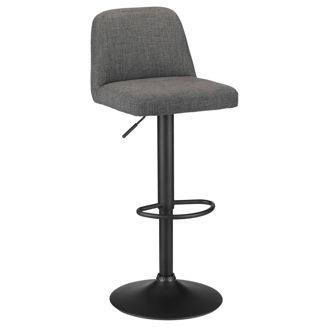 Peachy Chita Fabric And Metal Adjustable Bar Stool Short Links Chair Design For Home Short Linksinfo