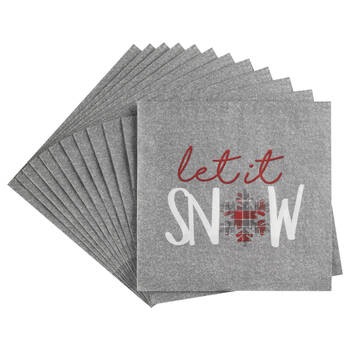 Pack of 20 Let It Snow Table Napkins