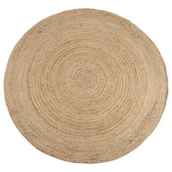 Round Solid Jute Rug