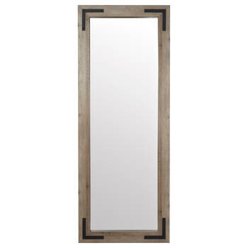 Wood and Metal Framed Mirror