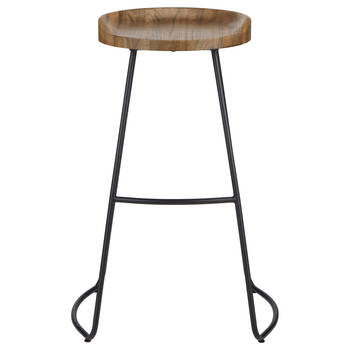 Wood and Metal Barstool