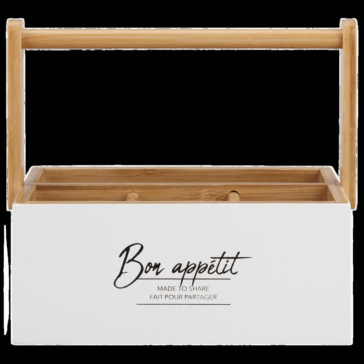 Porte-ustensiles avec typographie