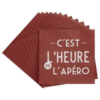 Pack of 20 C'est l'Heure Paper Napkins