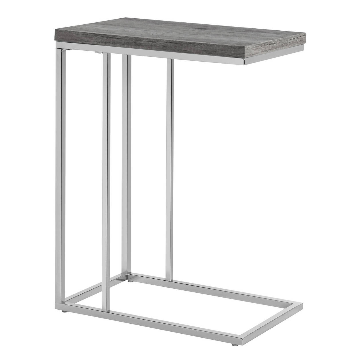 rose delia tripod table grey metal black at side