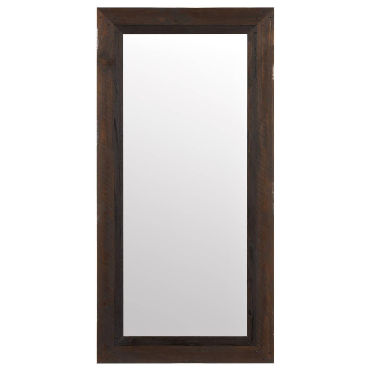 Miroir avec cadre effet bois de grange for Miroir mural en bois