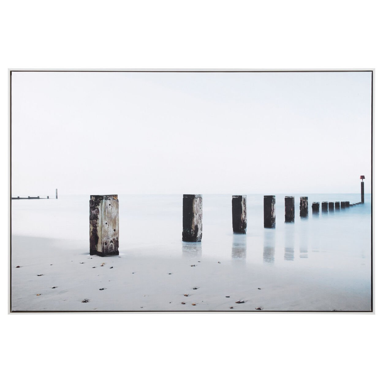 Water Posts Printed Canvas