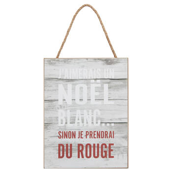 Noël Blanc Wall Plaque