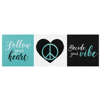 Set of 3 Canvases Follow Your Heart