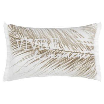 """Palm Leaf Decorative Lumbar Pillow 13"""" x 20"""""""