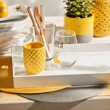 Textured Ceramic Candle Holder