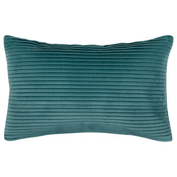 "Jules Striped Velvet Decorative Lumbar Pillow 13"" X 20"""