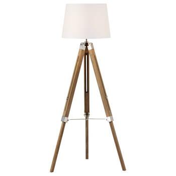 Wooden Tripod Floor Lamp