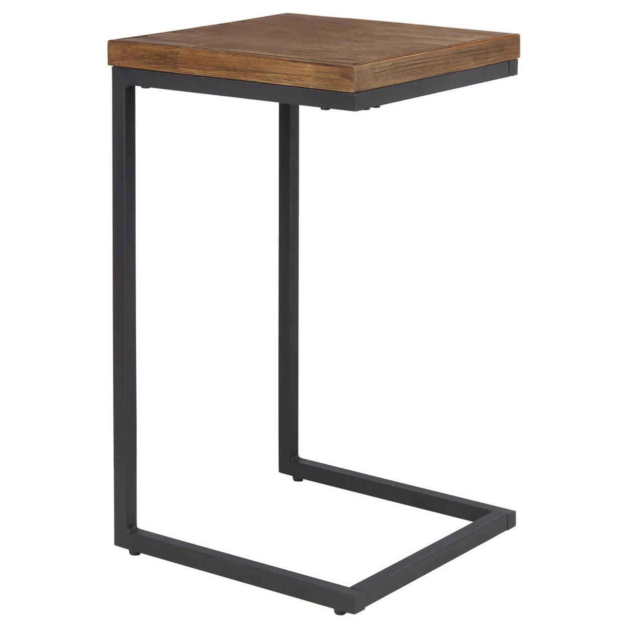 Sidetable Met La.Wood And Metal Side Table