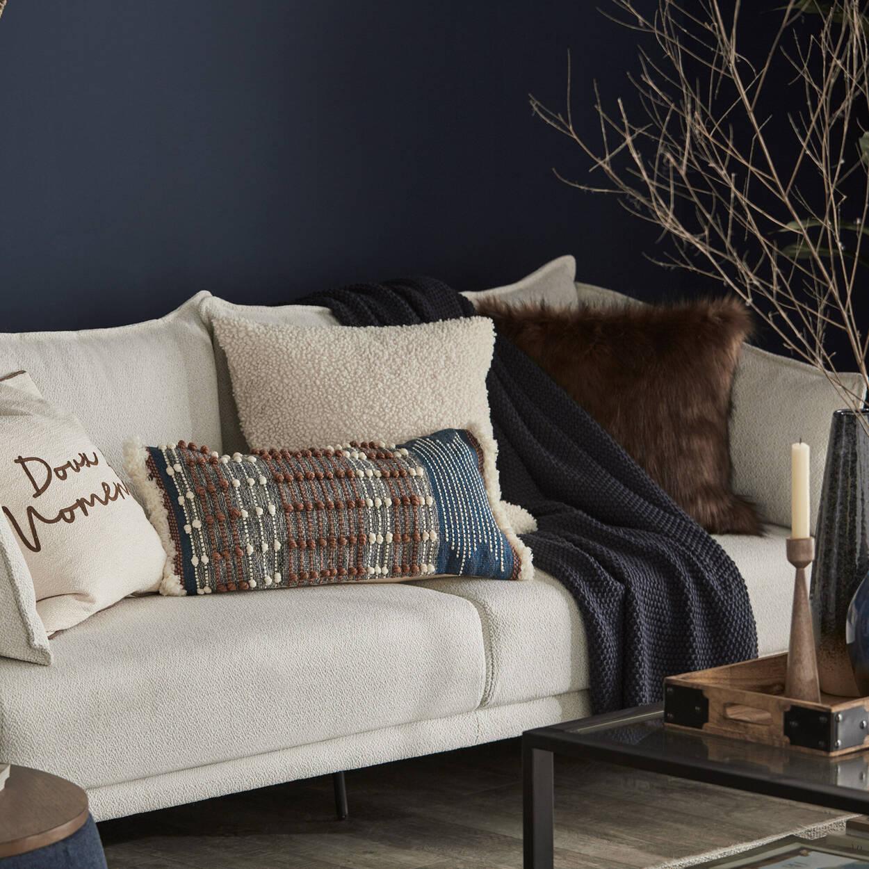 "Red Fox Faux Fur Decorative Pillow 20"" x 20"""