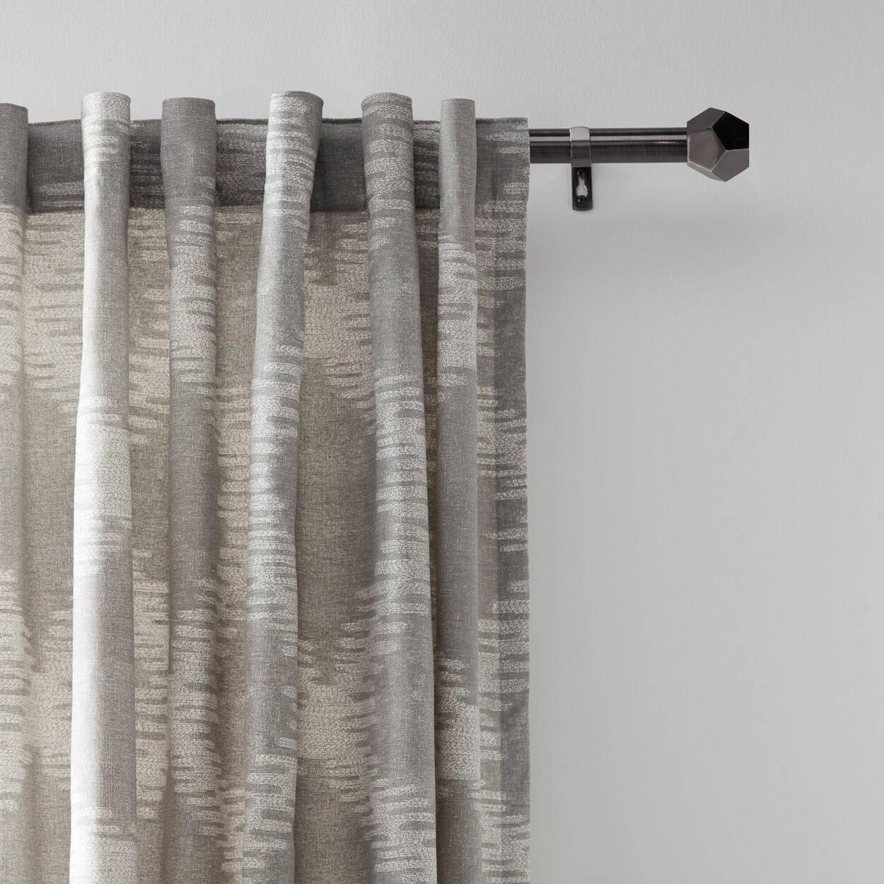 Tringle à rideaux graphite hexagonale - Diamètre 25/28 mm