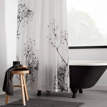 Rideau de douche fleurs séchées