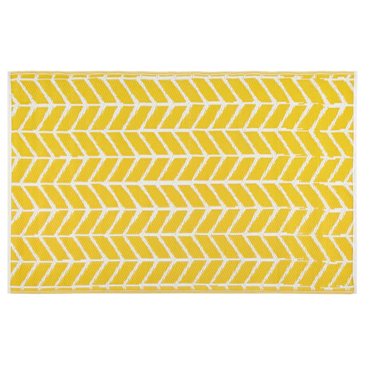 Medium Yellow Outdoor Rug