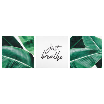 Set of 3 Just Breathe Canvases