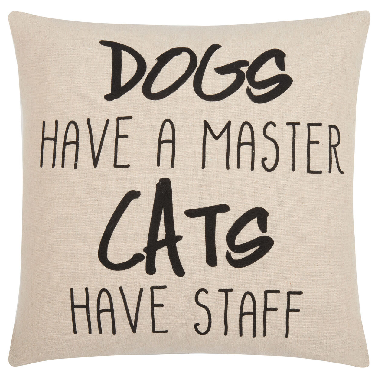 "Dogs and Cats Decorative Pillow Cover 18"" X 18"""