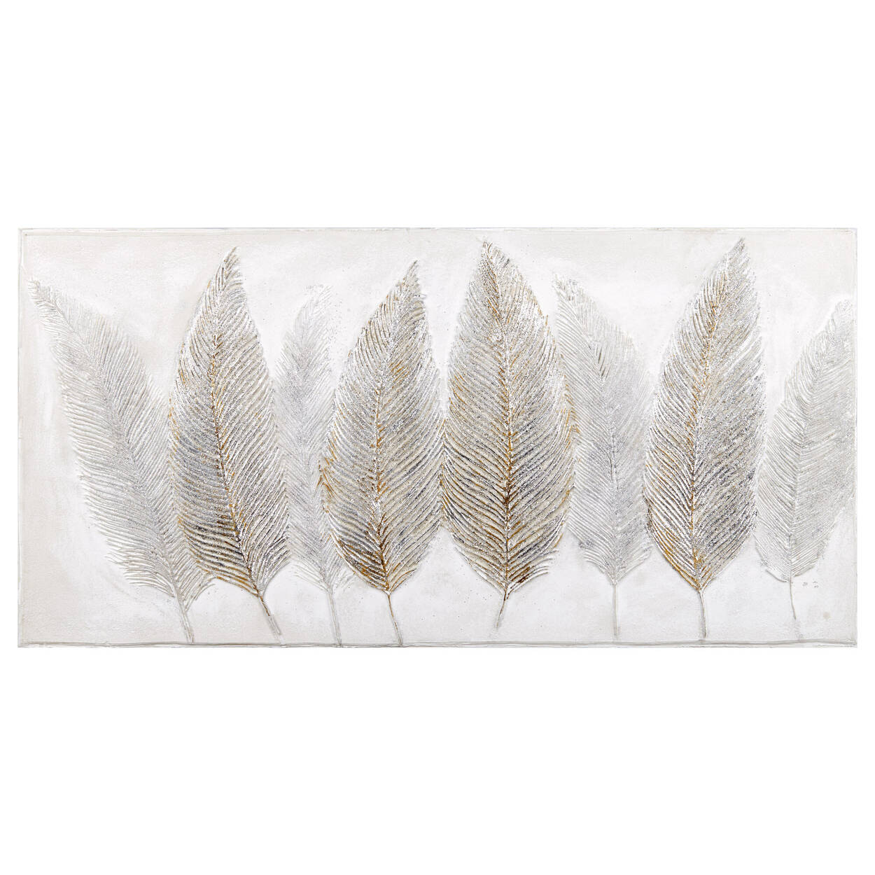 Feathers Oil Painted Canvas