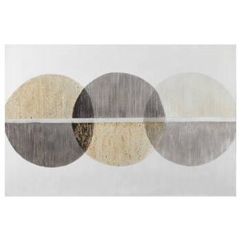 Tableau peint à l'huile 3 cercles