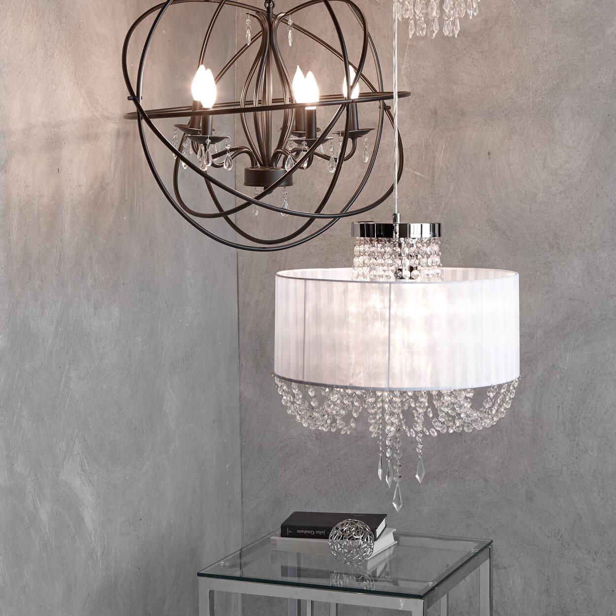 Lampe suspendue avec ruban et gouttelettes