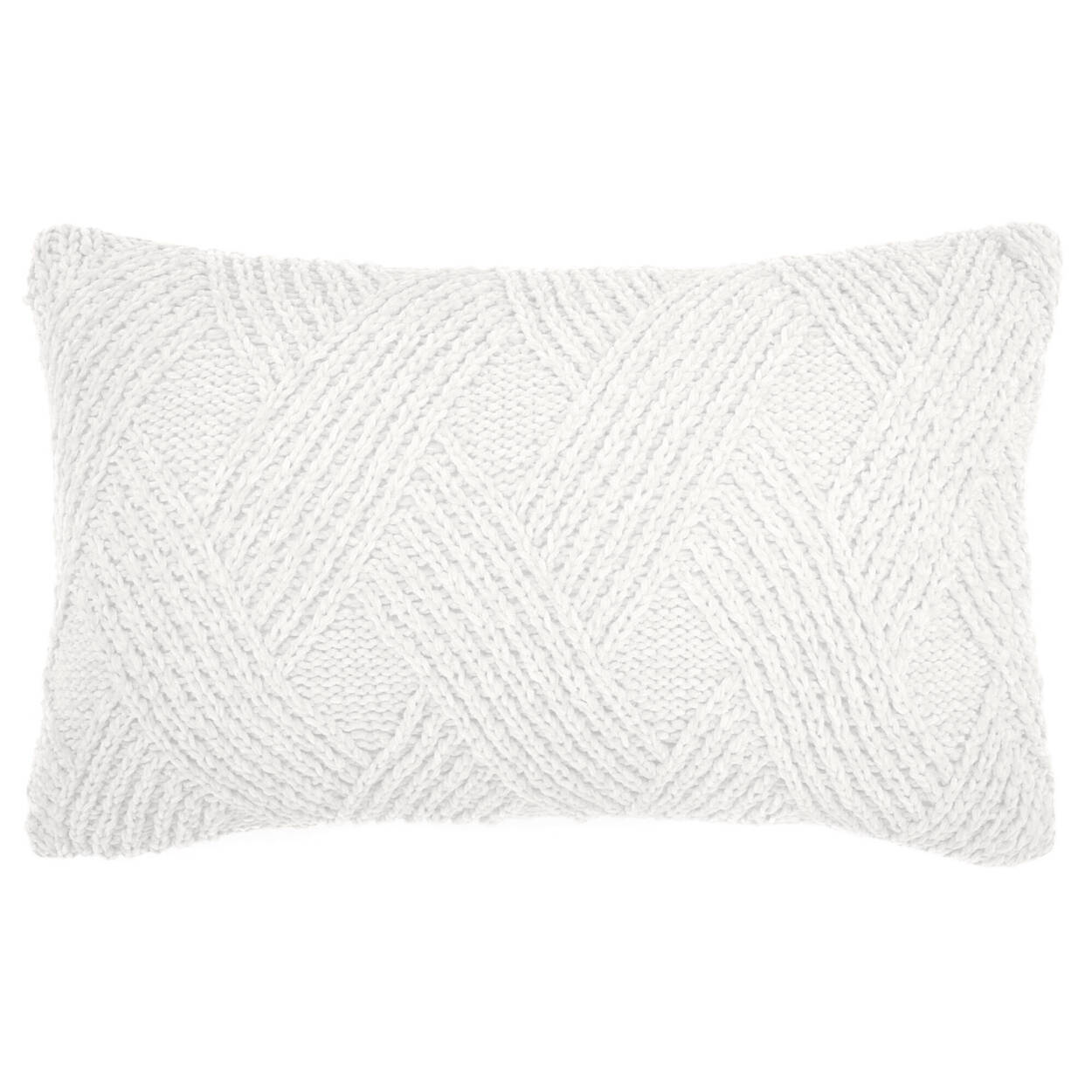 """Knitted Decorative Lumbar Pillow 13"""" X 20"""""""