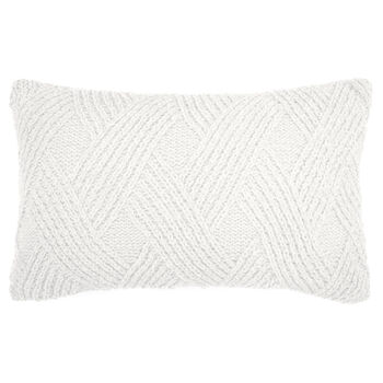 "Knit Knitted Decorative Lumbar Pillow 13"" X 20"""