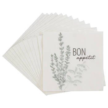 Pack of 20 Bon Appétit Paper Napkins