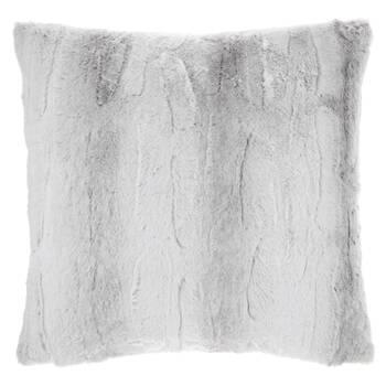 "Grey Rabbit Faux Fur Decorative Pillow 20"" x 20"""