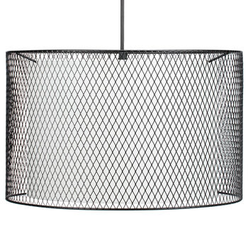 Metal Mesh and Fabric Ceiling Lamp