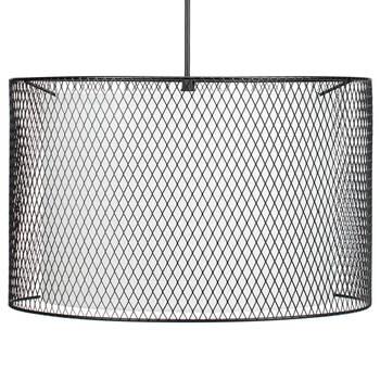 Metal Mesh and Fabric Ceiling Lamp