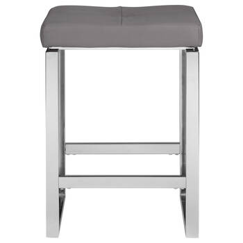 Faux Leather and Chrome Counter Stool