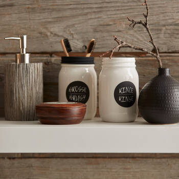 Mason Jar Toothbrush Holder