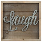 Laugh Wood and Metal Wall Art