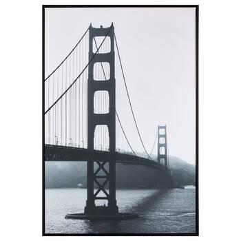 Black and White Bridge Framed Art