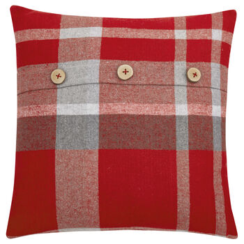 "Oda Plaid Decorative Pillow 19"" X 19"""