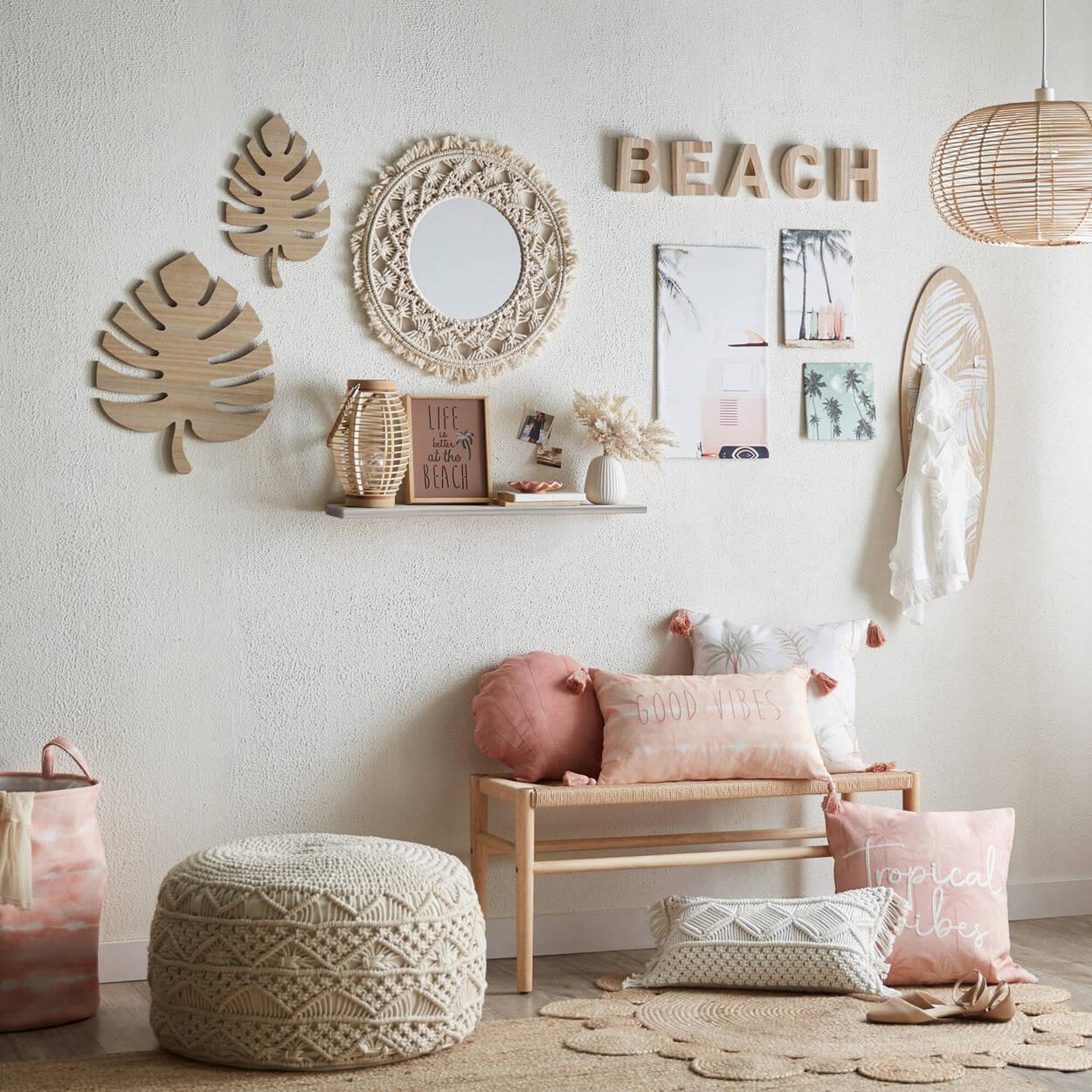 Wooden Decorative Word Beach