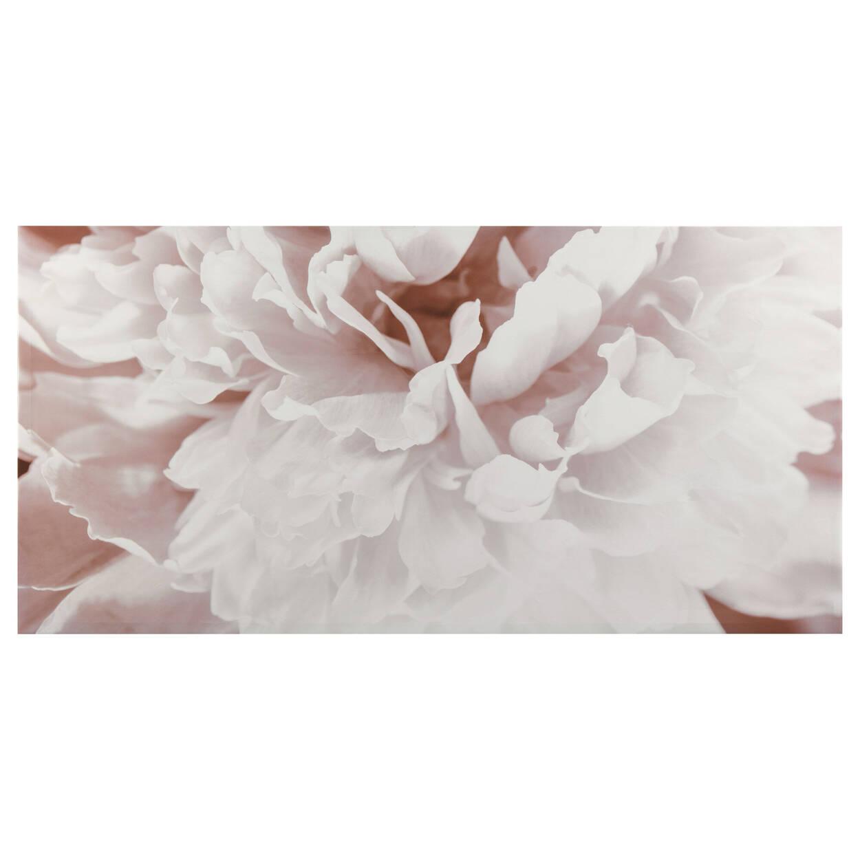 Tableau imprimé fleur rose