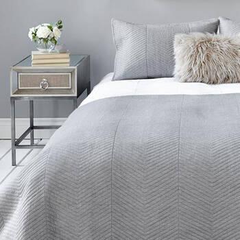 Collection Nex - Ensemble de couvre-lit chevronné 3 pièces