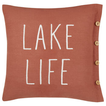 "Lake Life Decorative Pillow 20"" x 20"""