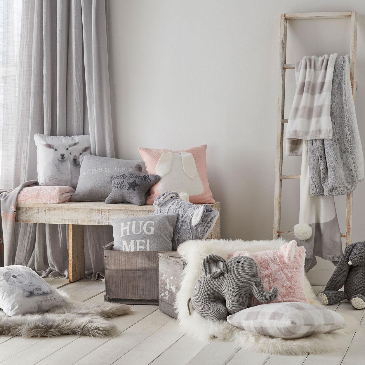 """Lambs Decorative Pillow 15"""" X 15"""""""