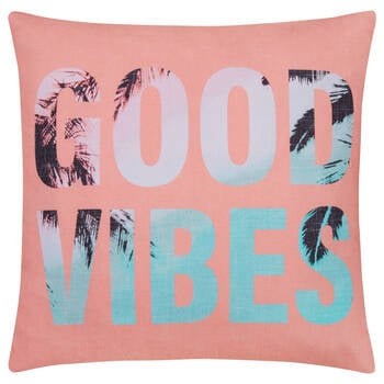 "Good Vibes Decorative Pillow 20"" x 20"""
