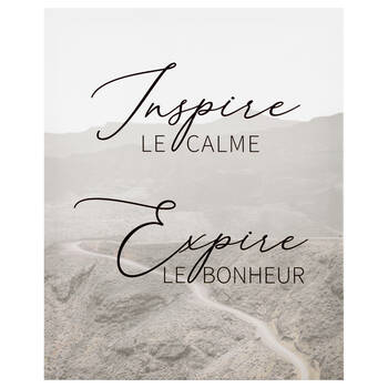 Inspire Expire Printed Canvas
