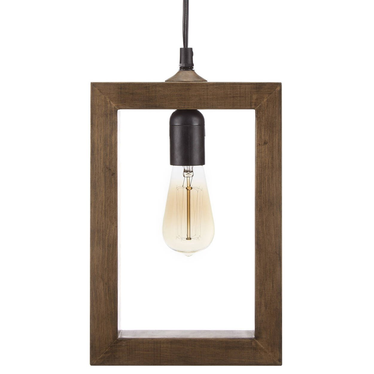 Wooden Frame Pendant Ceiling Lamp   Bouclair.com