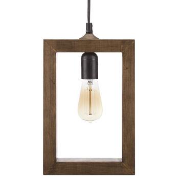 Wooden Frame Pendant Ceiling Lamp