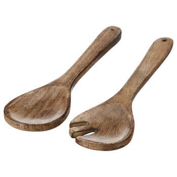 Set of 2 Mango Wood Serving Utensils