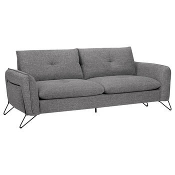 Fabric Sofa with Black Metal Legs